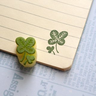 Apu handmade chapter wild small four-leaf clover seal clerk stamp