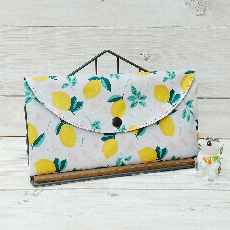 【現貨-口罩收納袋】檸檬-粉/防潑水材質