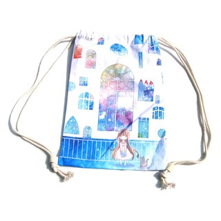 After ─ white window beam port backpack
