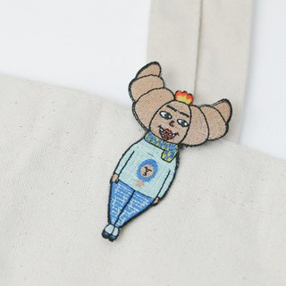 Belongs To J. Embroidery pins - Mr. Croissant