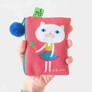 E * group package double-sided design small box (strawberry caramel) purse Yao Shibao card package gift cat gift