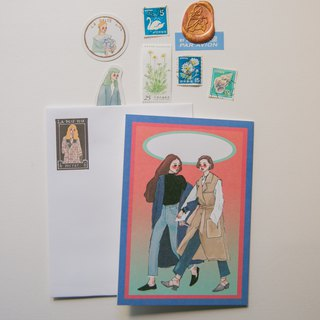 Soulmate A6 card with sticker envelope