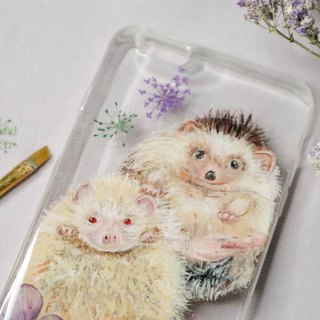 Tailor-made Hand-drawn Pet Pressed Flower Phone Case | Hedgehog