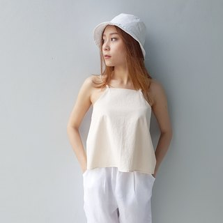 Cotton Spaghetti Top - Cream
