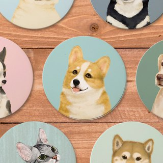 Pet friendly city series absorbent ceramic coasters
