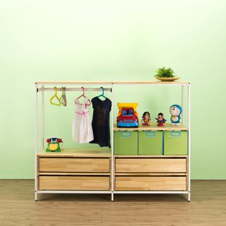 Creesor - Shido 40 Country Wind Children's Wardrobe Storage Cabinet