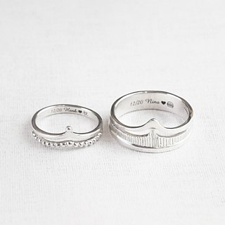 [Customized] King Empress (sterling silver couple ring Valentine's Day gift) ::C% handmade jewelry::
