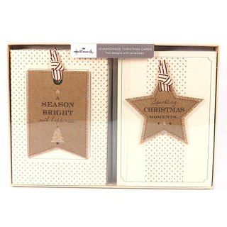 Star tag charms Christmas box card 2 models a total of 10 [Hallmark-card Christmas series]