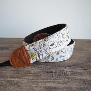 Hand made decompression camera strap manual camera back rope camera belt (grey forest animals) S22