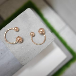 18K玫瑰金圓球戒指 18K Rose Gold Ball Ring