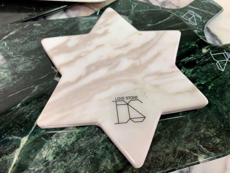 幾何杯墊-閃耀星辰(白)