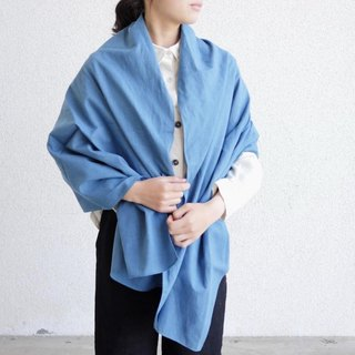 Ethical Hemp Plain Weave Stole Japanese Indigo Dyeing