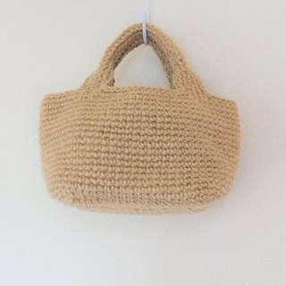 Square bottom tote bag mini,jute string