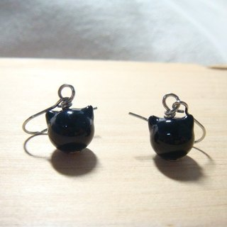 Grapefruit Forest Handmade Glass - Black Tsai - Glass Earrings - (Can be changed to another clip)