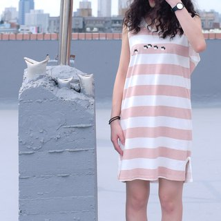 [Last one] a friend who came forward - bubble candy striped sleeveless vest skirt