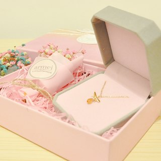 [Sweet honey gift set] small honey bee + mini dry bouquet