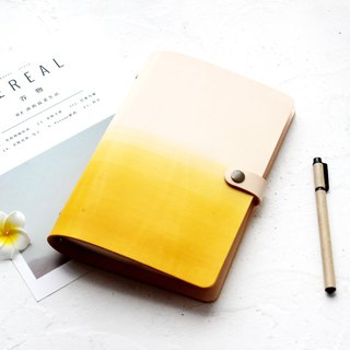 Yellow tea leaves white a5 a6 a7 loose-leaf leather notebook hand book handmade leather notepad