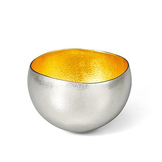 Pure tin gold foil swaying cup (L)
