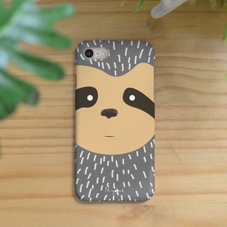 iphone case the gray cute sloth for iphone5s,6s,6s plus, 7,7+, 8, 8+,iphone x