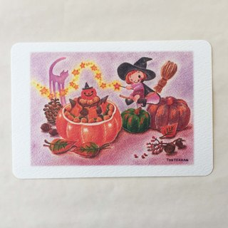 Halloween magic postcard no.138