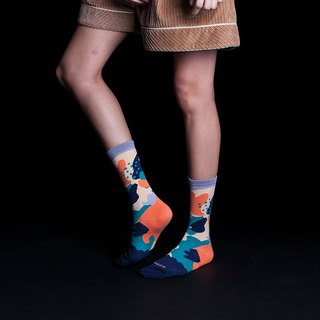 [NEW] Dear, Buncho: Daun/Jungle Forest Dark Blue | Crew Socks | Mens Socks | Womens Socks | Colorful Socks | Fun Socks | Unique Socks | Patterned Socks |