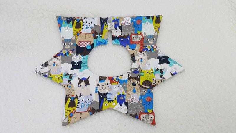 貓山貓海銀箔版  星星兜/寶寶圍兜/口水巾