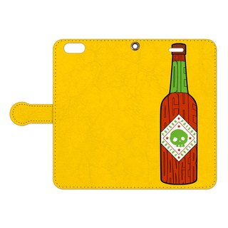 [Notebook type iPhone case] Poison Sauce / yellow