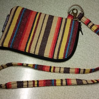 A MIN handmade custom national wind neck hung a rainbow phone package small objects (fabric stores Jieke customized Oh)