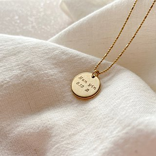 We can talk-Carving brass necklace