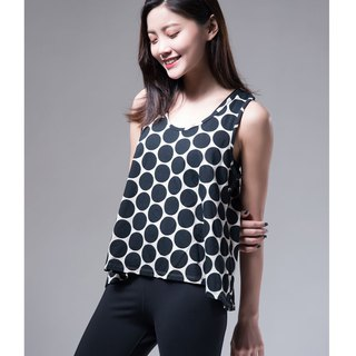 Aurora play color vest / black dot