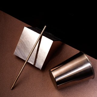 BLACHOICE bronze stainless steel straw