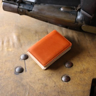 日本製造 栃木皮革製作 牛皮 名片夾 名片盒 朱紅 made in JAPAN handmade leather card case