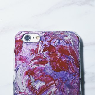 Experimental series ll Distortion ll hand-painted oil painting wind mobile phone shell