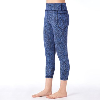 [MACACA] hip fixed fit pocket pants - ASE6602 black blue leaf