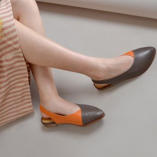 1695 Orange Coco Handmade Shoes