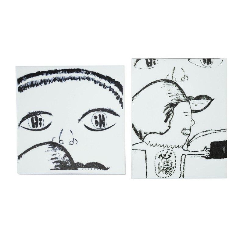 ( wellcome 兩人組 ) Li-good - 防水貼紙、行李箱貼紙 NO.39、40