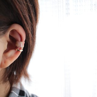 Ear Cuff using white cherry Japanese paper