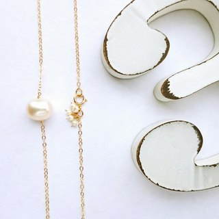 14kgf*Japanese BIG pearl bubble necklace