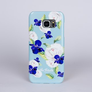 [Flower series ideal の lovers blue] matte matte hard shell / mobile phone shell