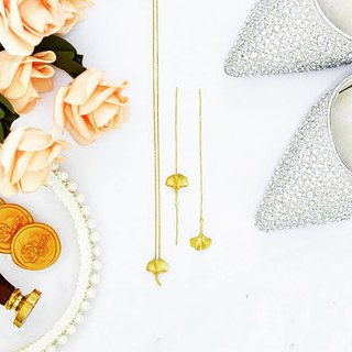 Goody Bag - 2 in 1 Elegant Ginkgo 18kgf gold Jewellery Set