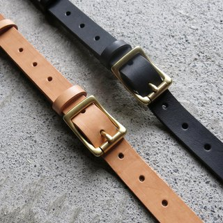 2.5cm wide vegetable tanned leather strap with two colors to choose [LBT Pro]
