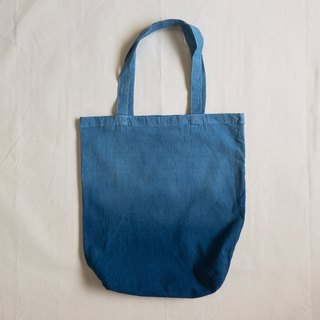 """Only for lulu 1975"" Cotton Tote bag Indigo dyed Aizen - gradation dyeing bag made in Japan"