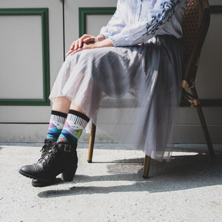 [Mountains Mountain A] / Sports / socks (white blue purple)