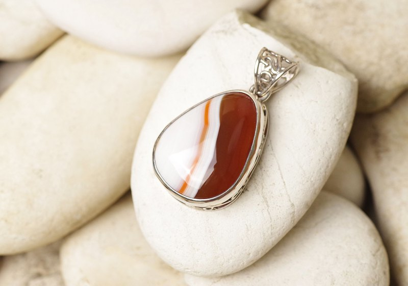 Agate Pendant - Gemstone Pendant Necklace | Natural Agate