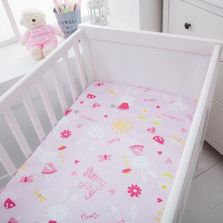 Waterproof and breathable cotton baby sheets <rabbit garden> diaper pad waterproof pad anti-mat pad