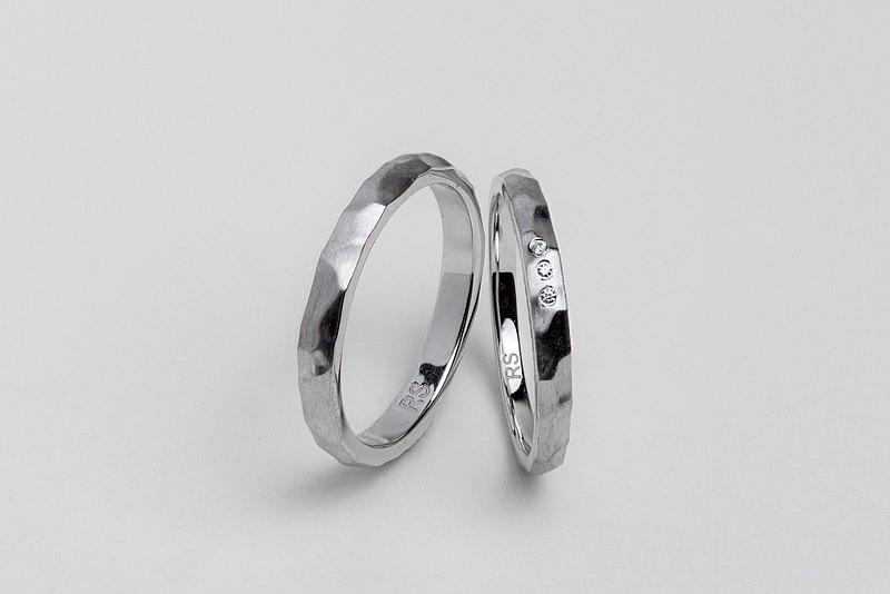 【手敲設計款】Prism 情人對戒 • 純銀戒指厚鍍18K金 獨一無二款