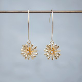 innocence series-18K gold colour dandelion<once upon a time*earring>