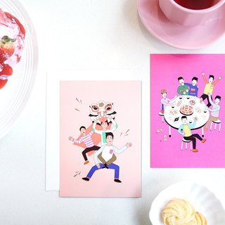 Rollingux Nuoting Gift Postcards Series | New Year. Birthday Set of 5