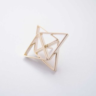 Geometric Landscape 25 Metal Brooch