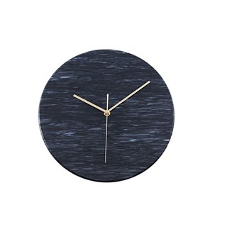 Natural black marble clock [fashion] European and American style fashion artistic taste of home decorative wall clock amplifier